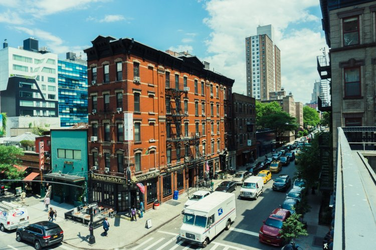 Image of New York street in Chelsea district
