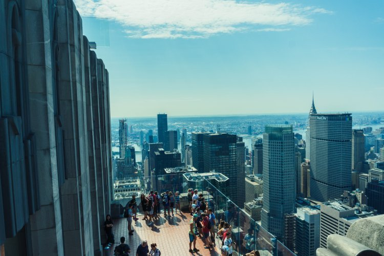 Image from top of the observation deck at Rockefeller Center looking out over New York City
