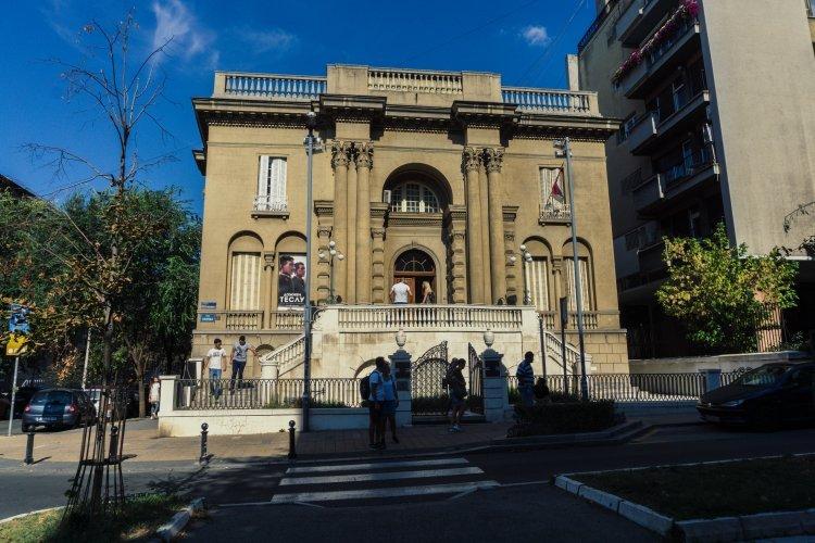 Outside Nikola Tesla Museum in Belgrade, Serbia