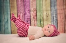 fotografía de estudio de bebé