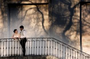 Reportaje de boda al atardecer en el parque Aiete