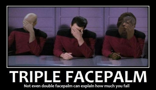 Triple Facepalm Star Trek Fail