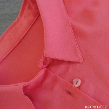 katrienette LMV la maison victor golda short alice blouse jacquard bellena sol coral viscose koraal nazomer set