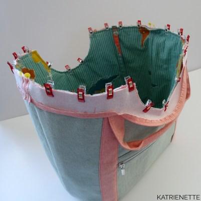 katrienette poolside tote totebag noodlehead pool side tas reistas weekendtas zelf naaien sewing bag pattern birch trans pacific uitstap zwembad workshop tassen katrienetteworkshop
