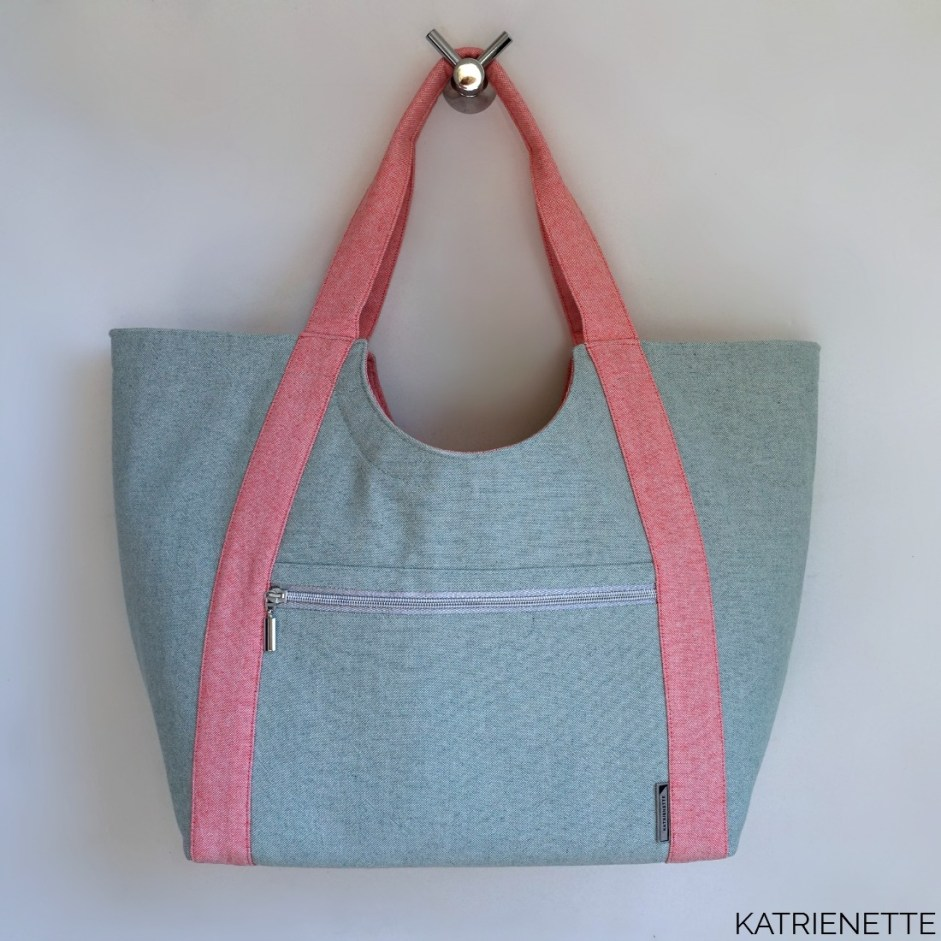 katrienette poolside tote totebag noodlehead pool side tas reistas weekendtas zelf naaien sewing bag pattern birch trans pacific uitstap zwembad workshop tassen katrienetteworkshop