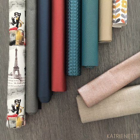 Katrienette fabric shopping kunstleer waxed linnen