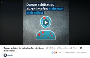Quarks (WDR): Darum schützt du durch Impfen nicht nur dich selbst (Social Video)