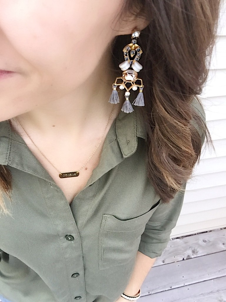 blush and grey jewels complete this look for day of of 5x5 style challenge