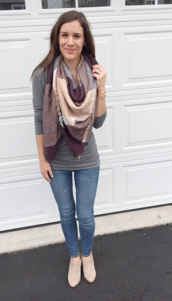 how to tie a blanket scarf with katrina gwen rose