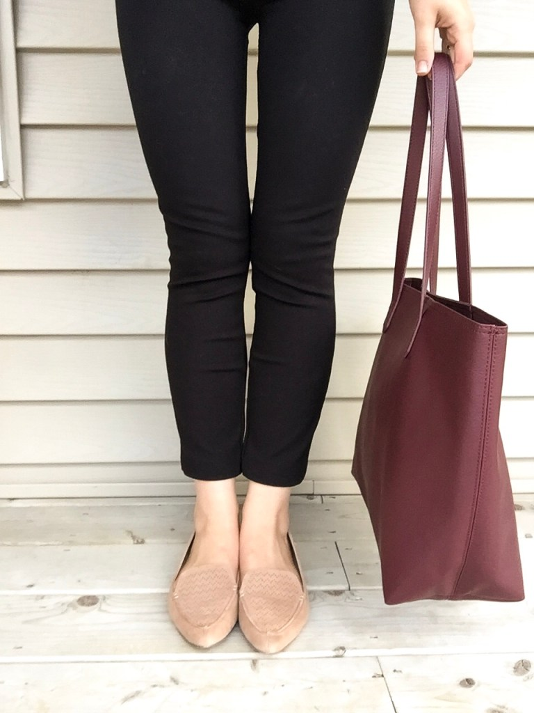 suede flats for a classic look for the 5x5 fall style challenge