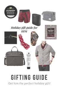 Holiday Gift Guide for HIM l Katrina Gwen Rose