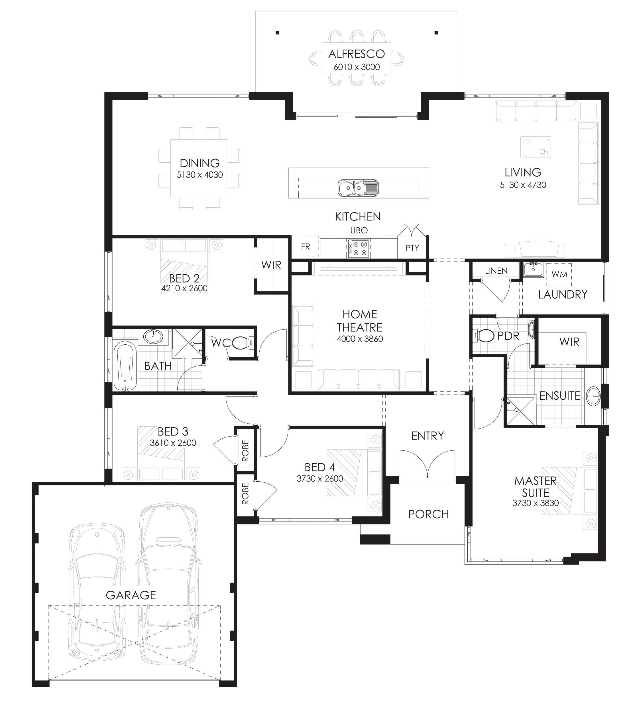 Floor Plan Friday 4 Bedroom Home With Rear Views