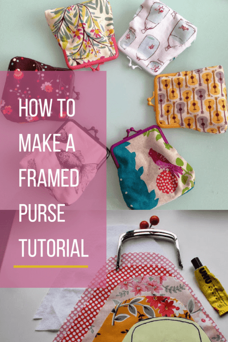 How to make a metal framed/metal clasp purse tutorial