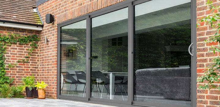 sliding patio doors kat uk aluminium triple track sliding patio doors: large sliding patio doors