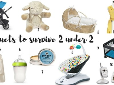 10 Essential Products to Survive 2 under 2