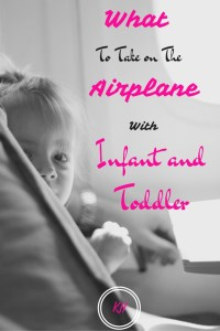Airplane with Infant and toddler