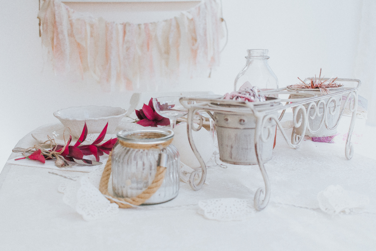 Shabby Chic Valentines Day Tablescape Inspiration