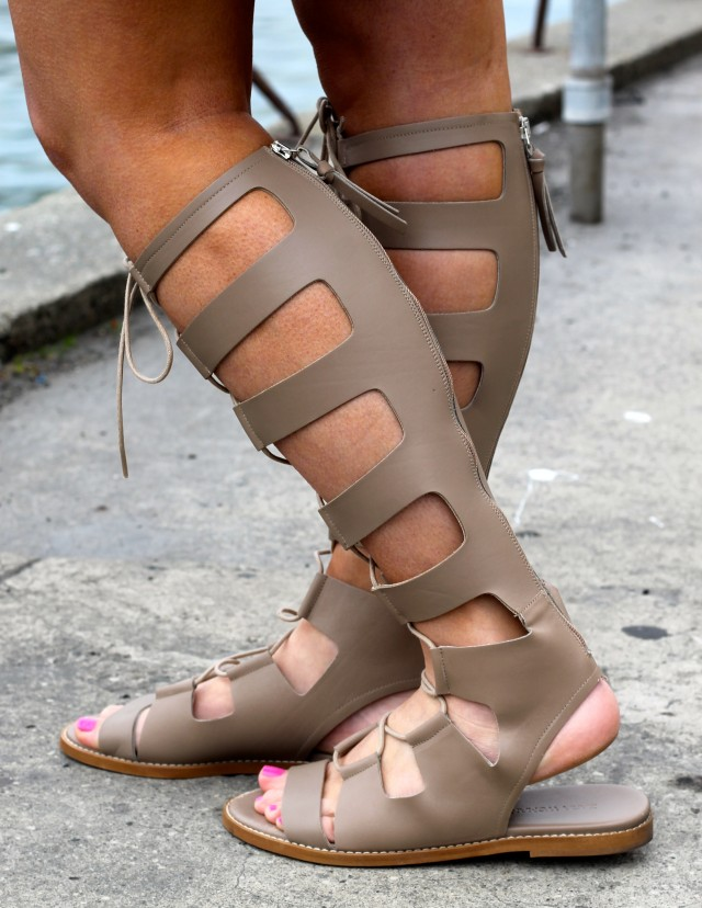 KatWalkSF Zara Roman Sandals