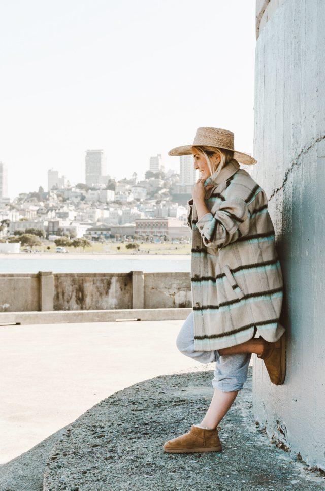 Shacket Season, Fashion blogger KatWalkSF wears the Free People vienna brushed wool shirt jacket, shacket, shack round-up, shacket review, katwalksf