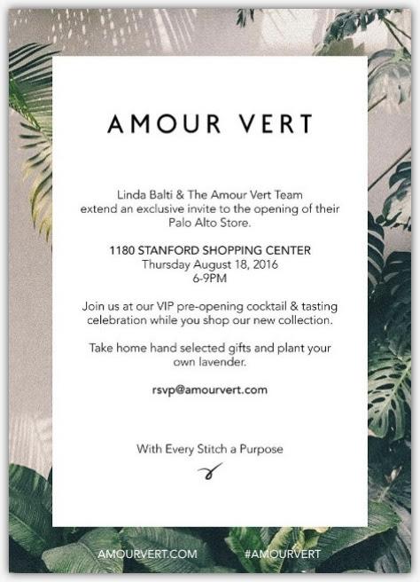 Amour Vert Invite