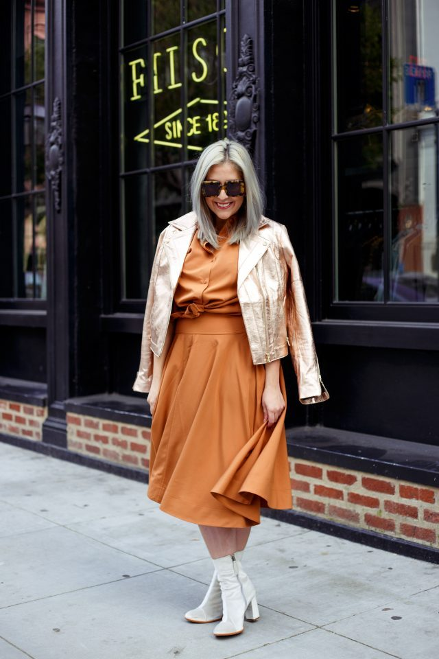 Uniqlo, Uniqlo U, Karen Walker, Tart Collection, Rose Gold, Set, Co-ord Set, Matching Set, Rust, Matisse, Matisse Footwear, Fashion Blogger, San Francisco Blogger, Style Blogger, Street Style, Kathleen Ensign, KatWalkSF
