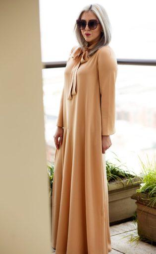 Uniqlo, Stella McCartney, Muslim Fashion Designer, Hana Tajima, Flare Sleeve, Maxi Dress, Caftan, Fashion Blogger, Style Blogger, KatWalkSF, Kathleen Ensign, Pussy Bow, Kaftan, San Francisco, SF Style, Fashionista, Stylist
