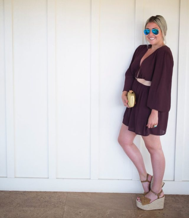 The Outnet, Zimmermann, Katie Dean Jewelry, KatWalkSF, Kat Ensign, Kathleen Ensign, Details, Inspo, Travel Blogger, Travel With Me, Fashionista, Fashion Diaries, Top Blogger, Valentino Wedges, Shopping, Waikiki, Hawaii, Jumpsuit, Romper, Purple Romper
