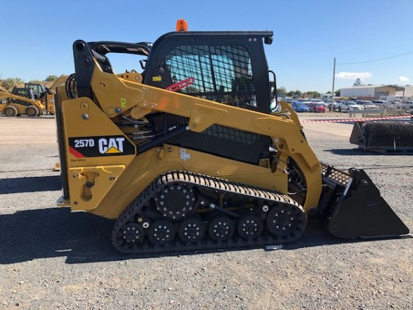 To show a canvas seat cover for a Caterpillar Skid Steer