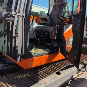 Canvas seat cover for a Doosan Excavators