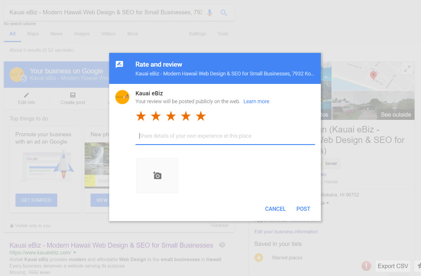 How to find the link to Google My Business page - Write a Review URL