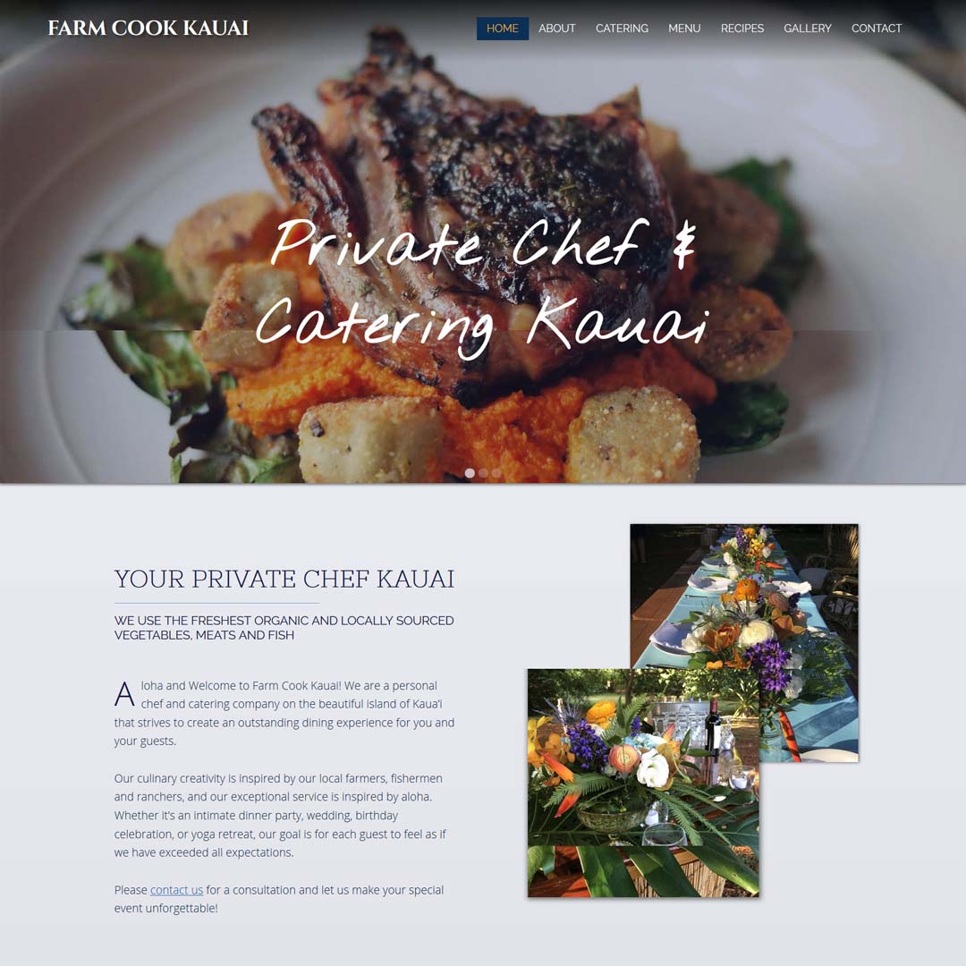 [Portfolio] Farm Cook Kauai Private Chef