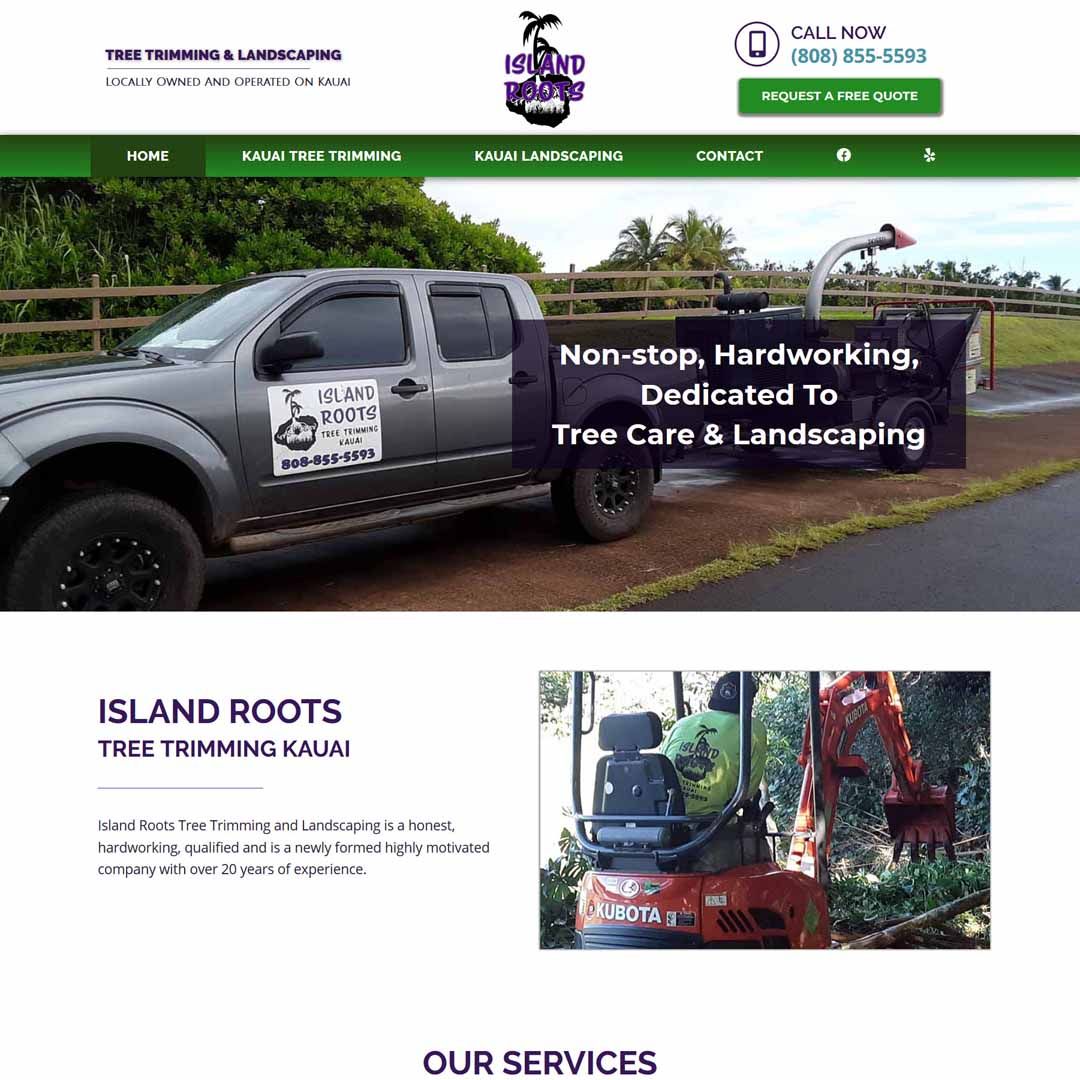 Tree Trimming & Landscaping Kauai Website