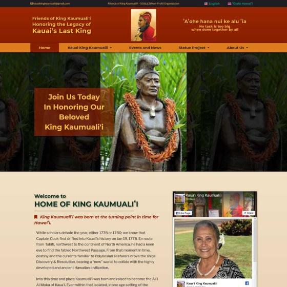 portfolio Friends of King Kaumualii Kauai