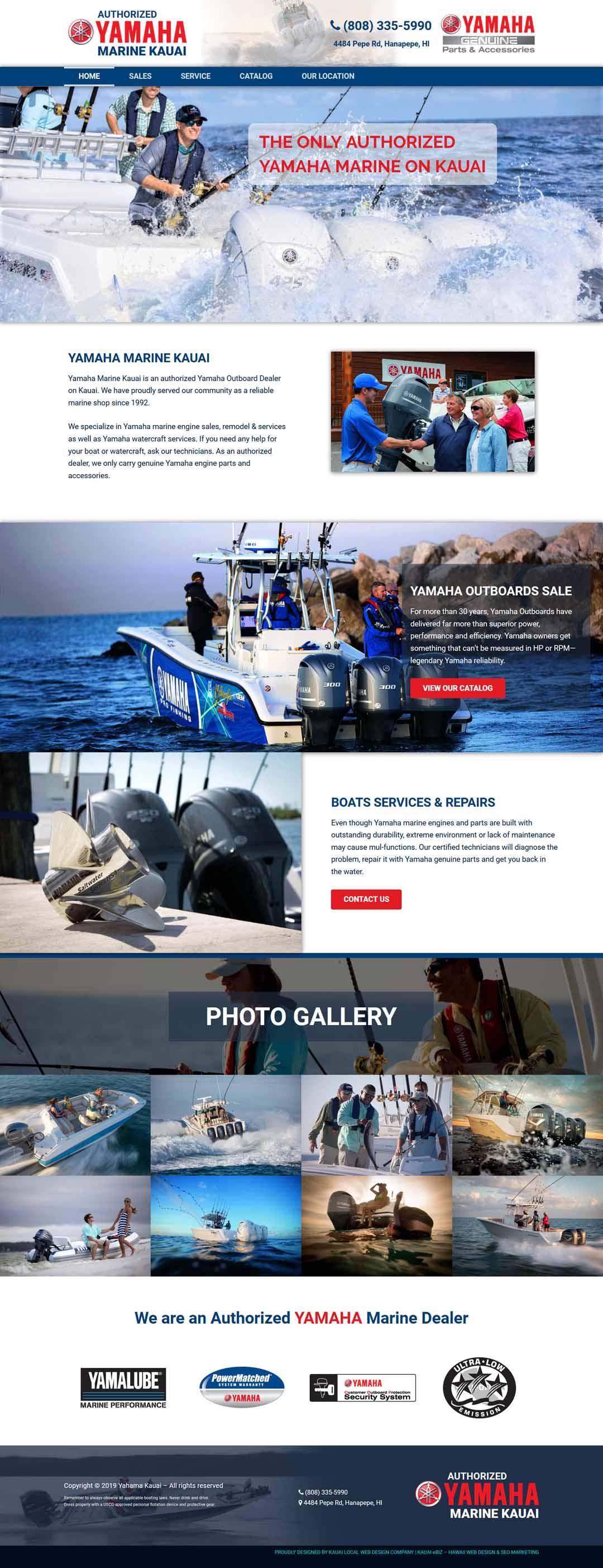 Yamaha Kauai Website