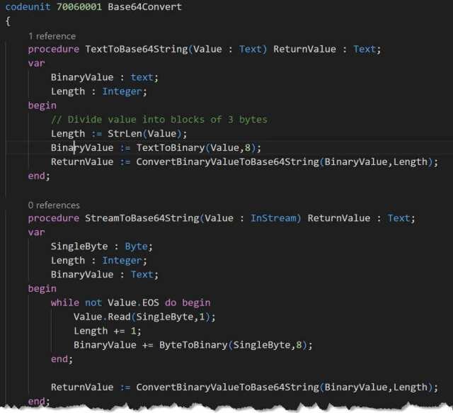 Convert Base64 with AL code | Kauffmann @ Dynamics 365 Business Central