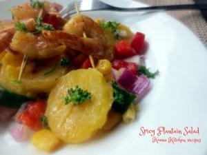 Nigerian plantain salad