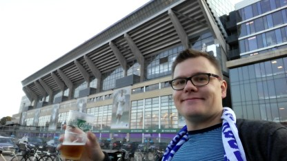Yet another Carlsberg at Parken.
