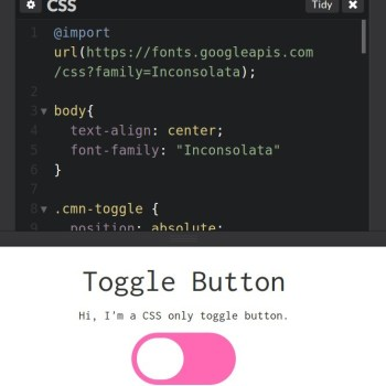 CSS only toggle button