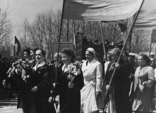 Колонна Продснаба на демонстрации 1 мая 1963 года