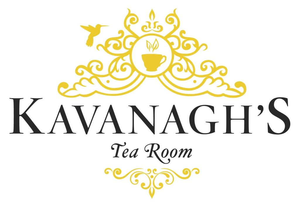Kavanagh's Tea Room logo, black and gold