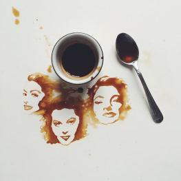 Ava Gardner - Festmények kávéból - Giulia Bernardelli