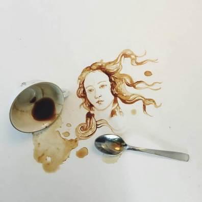 Vénusz - Festmények kávéból - Giulia Bernardelli