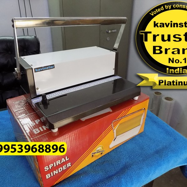 Kavinstar HD12 Double Handle Spiral Binding Machine - A4 Size with 10-12 Sheets (70gsm) Punching Capacity