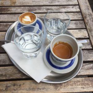 Mamacoffee v Londýnské - espresso a espreso macchiato