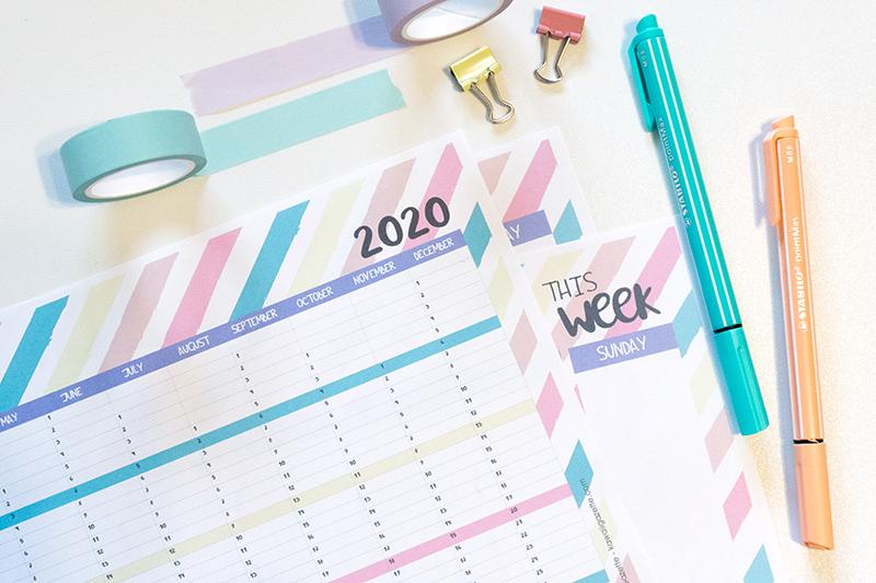 Kawaii Calendar 2020