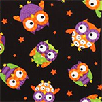 Halloween Owl Fabric by Timeless Treasures