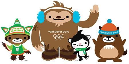 Le mascotte di Vancouver 2010