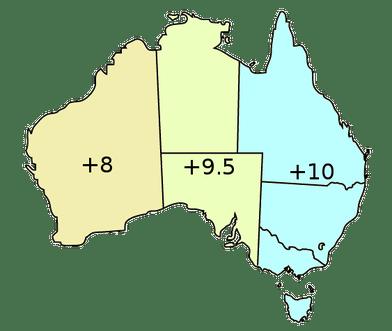australia - informacje praktyczne, strefy czasowe