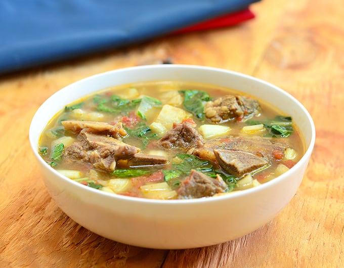 Beef, Potato and Pechay Soup - kawaling pinoy