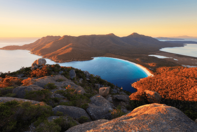 Wineglass Bay na Tasmania